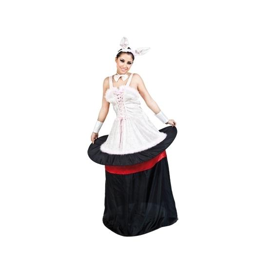 Carnavalskostuum goochelaar konijn dames
