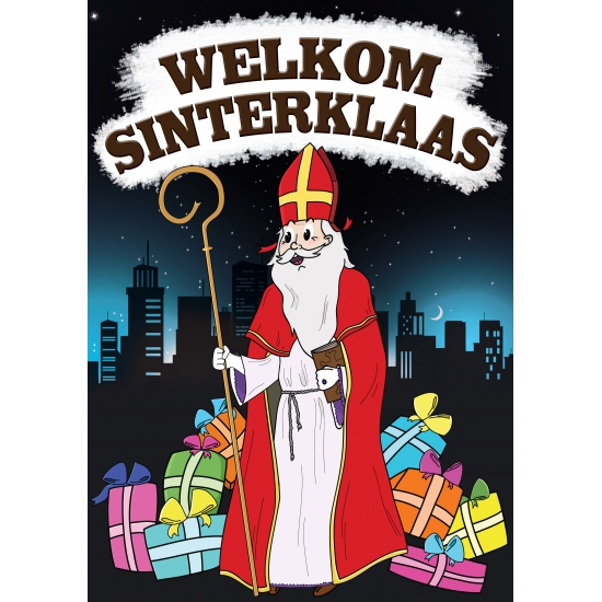 Deurposter Sinterklaas A1 thumbnail