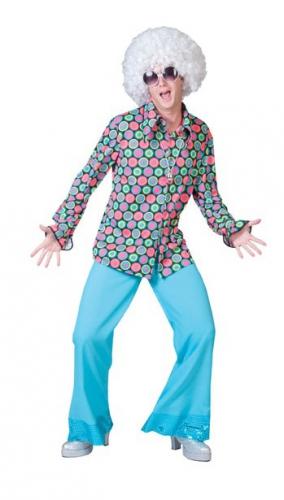 Disco overhemd met knopen voor heren