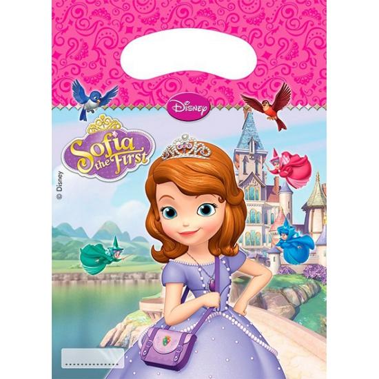 Feestzakjes met plaatjes van Sofia het prinsesje