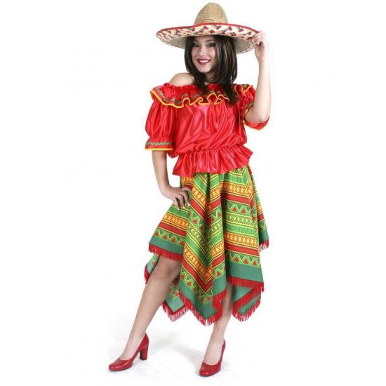 Gekleurd Mexico kostuum voor dames