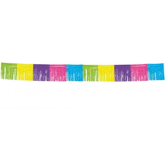Gekleurde franje slinger 10 meter