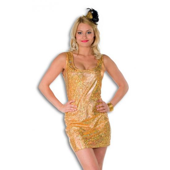 Goud holografisch jurkje voor dames