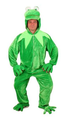 Groene pluche kikker pakken
