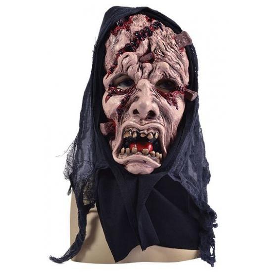 Horror masker gezicht met wonden