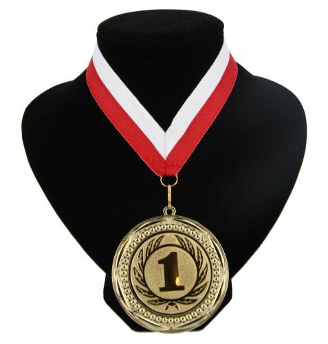 Lint rood en wit met gouden medaille