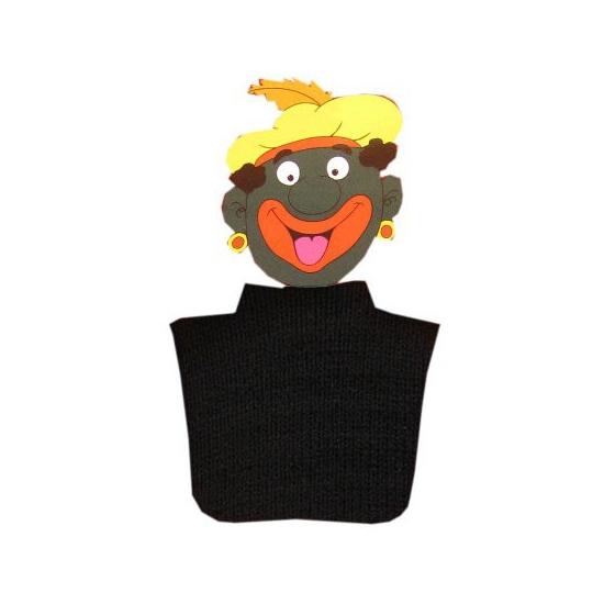 Pietcol zwart (bron: Verkleedkledingwinkel)