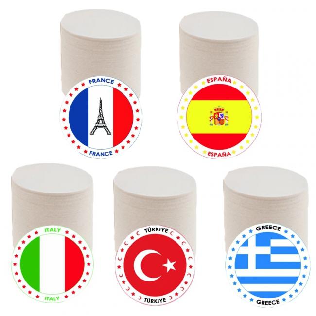 Populaire vakantie landen vlag bierviltjes