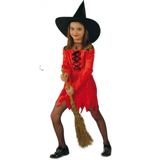 Rode suede heksenjurkjes voor meisjes