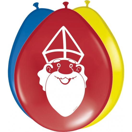 Sinterklaas ballonnen 8 stuks thumbnail