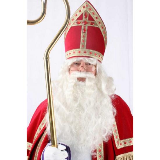 Sinterklaas pruik met baard en snor thumbnail