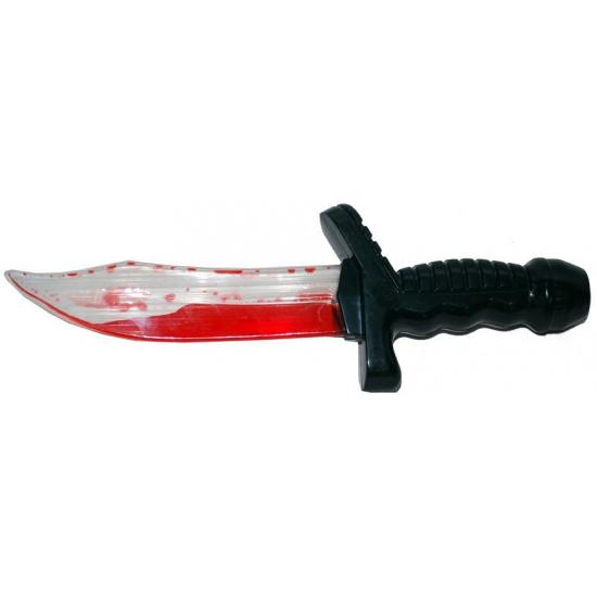 Speelgoed dolk met bloed 25 cm
