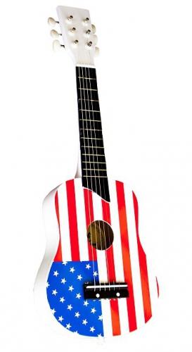 172996750Speelgoed gitaar met Amerikaanse vlag