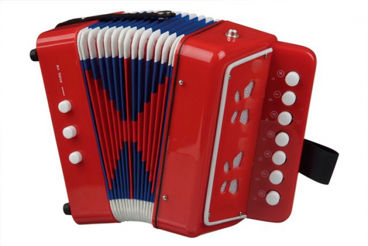 Speelgoed muziekinstrument accordeon
