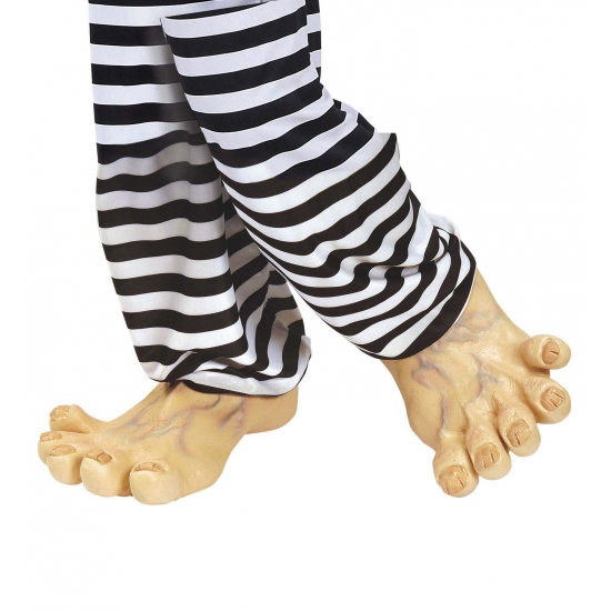 Verkleed Grote vinyl nep voeten