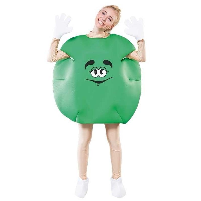 Verkleedkleding Groen snoep kostuum