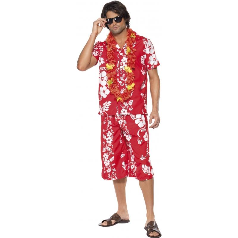 Verkleedkleding Hawaii blouse en korte broek