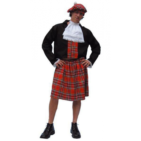 Verkleedkleding Schotse kostuum heren