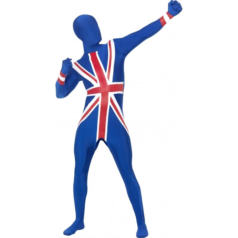 Verkleedkleding Second skin pak Engeland