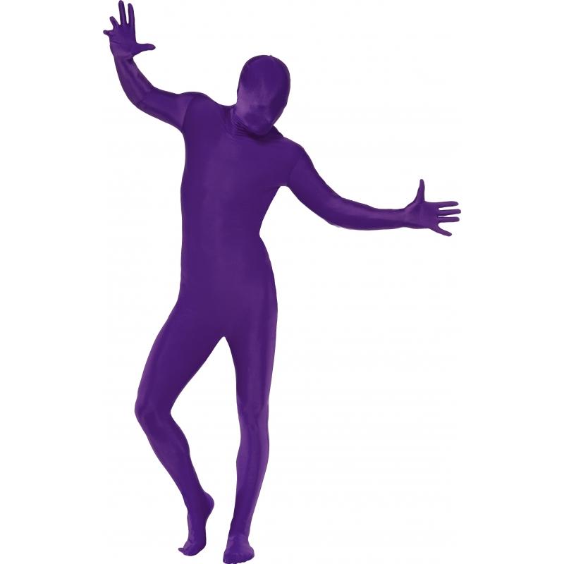 Verkleedkleding Second skin pak paars