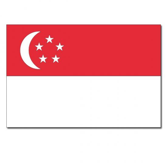 Vlag Singapore 90 x 150 cm