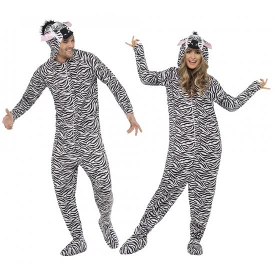 Winter huispakken zebra voor volwassenen