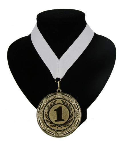 Wit lint met gouden medaille