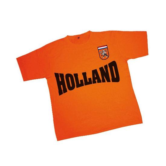 WK oranje t-shirt met patch