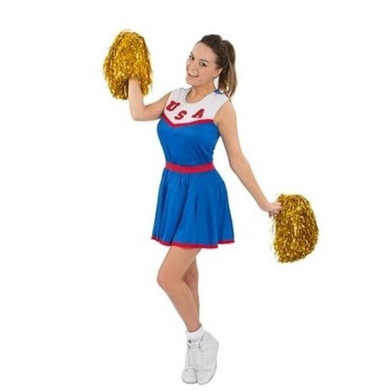 6f3fa4cdefe2d6 Toppers - Cheerleader jurkje blauw voor dames - Dames ...