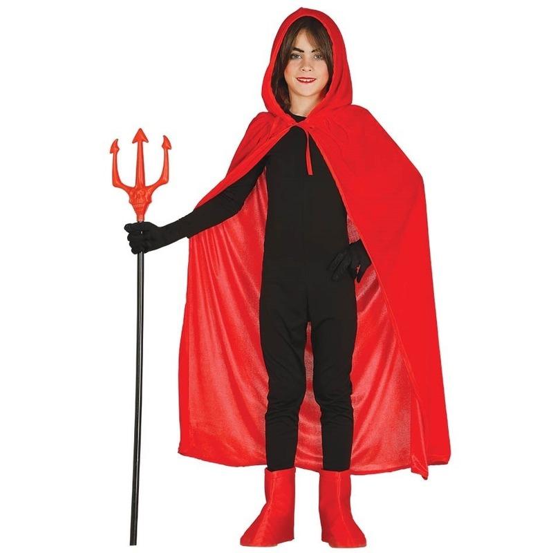 Halloween Verkleedkleding Kind.Rode Halloween Verkleedcape Met Capuchon Voor Kinderen