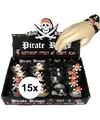 15x Piraten armbandjes voor kinderen