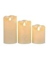 3x Parel witte LED kaarsen-stompkaarsen met afstandsbediening