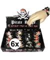 6x Piraten armbandjes voor kinderen