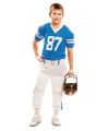 Blauw met wit American Football outfit kids