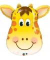 Folie dieren ballon giraffe 81 cm