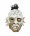 Horror wit gezicht masker met oorbellen
