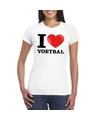 I love voetbal t-shirt wit dames