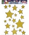 Kerst raamstickers-raamdecoratie gouden sterren plaatjes