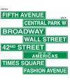 New York thema feest decoratie bord