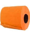 Oranje toiletpapier