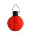 Ronde solar party lampion rood 10 cm