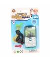Speelgoed mobiele telefoon turquoise
