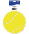 Tennisbal vinyl decoratie sticker 13 cm