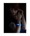 Toppers 5x Blauwe LED licht wikkel armbanden voor volwassenen