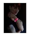 Toppers 5x Rode LED licht wikkel armbanden voor volwassenen