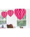 Valentijn 3x Hangende hartje deco bollen roze 30 cm