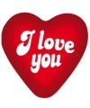 Valentijn I love you decoratie bord 49 cm