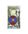 Viking zwaard met rood-blauw schild en bijl set