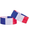 Voetbal armband blauw wit rood