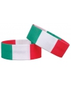 Voetbal armband groen wit rood